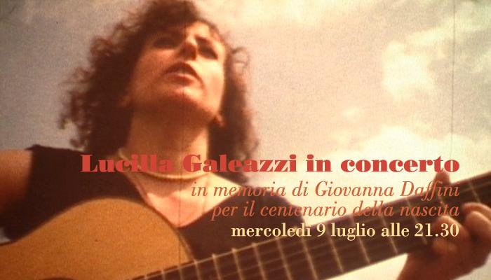 Lucilla Galeazzi in memoria di Giovanna Daffini