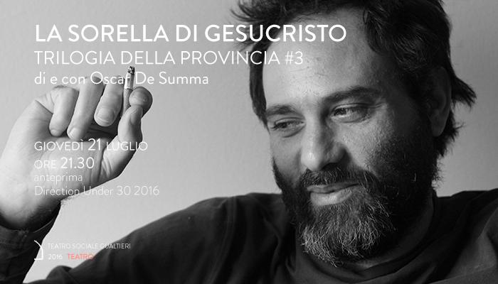 LA SORELLA DI GESUCRISTO</br>Oscar De Summa