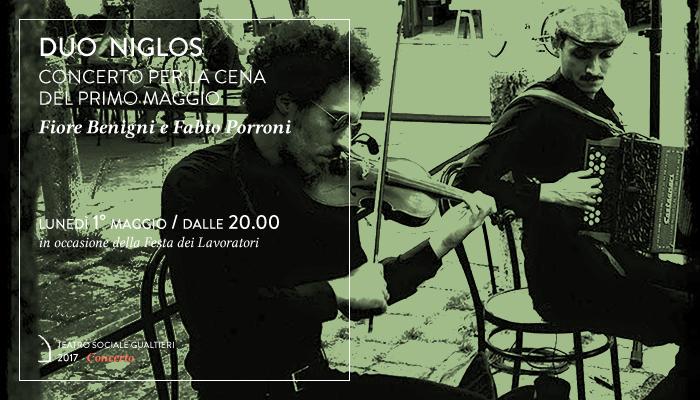 DUO NIGLOS</br>Fiore Benigni e Fabio Porroni