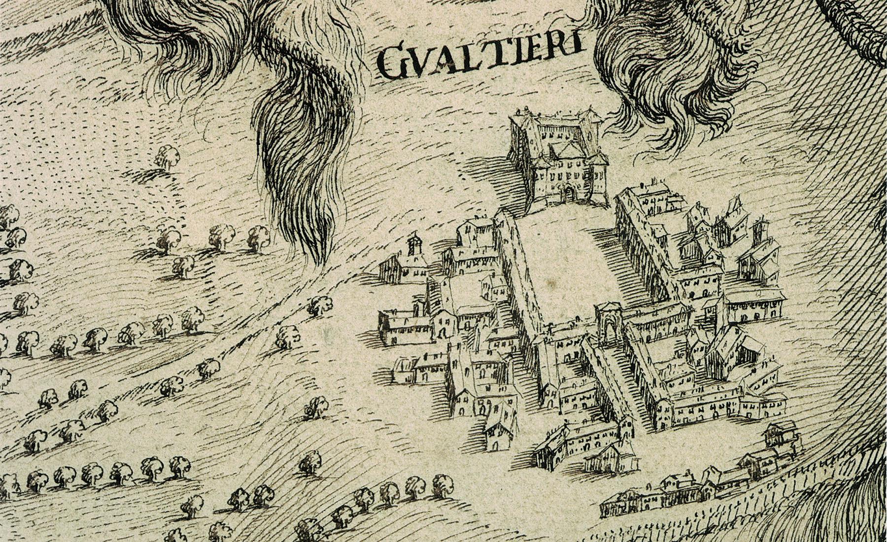 Teatro Sociale Gualtieri – Mappario Estense – Pianta topografica fiume Po – anno 1700 – particolare 1 – 1800×1100