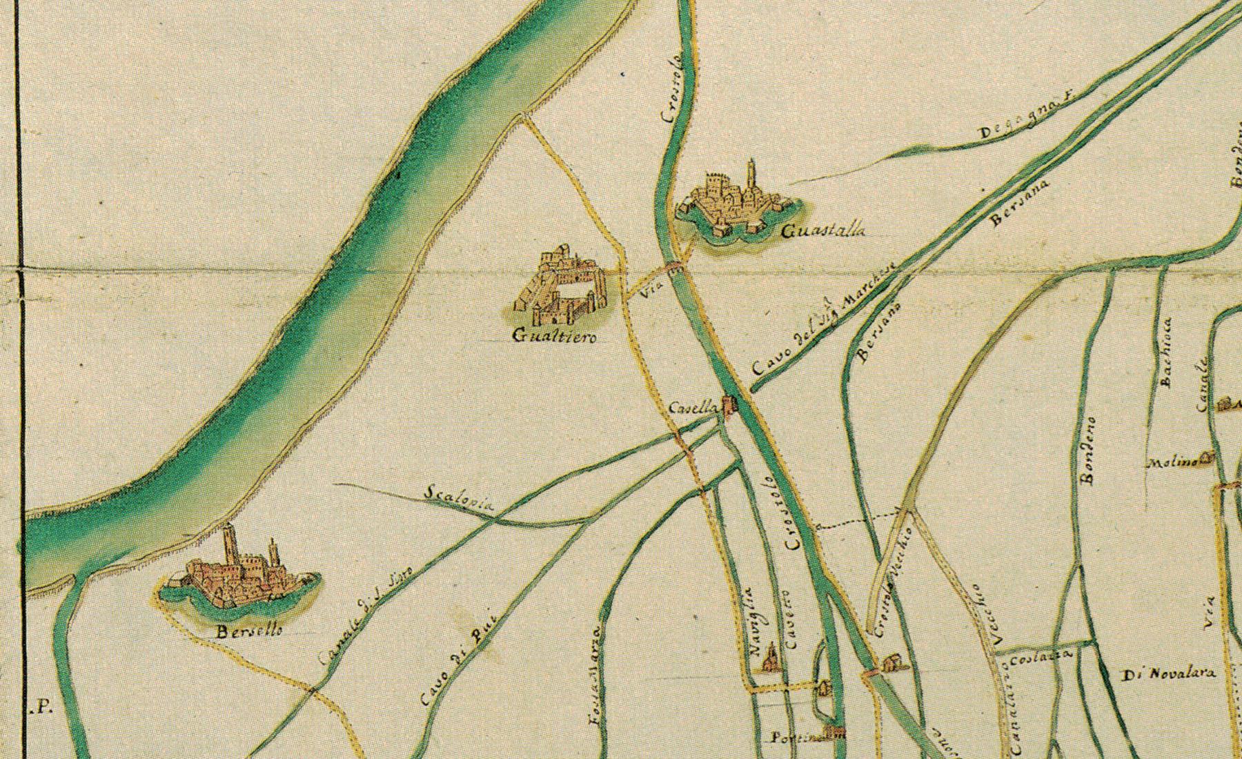 Teatro Sociale Gualtieri – Mappario Mappa Genio Militare 2 – particolare – 1800×1100