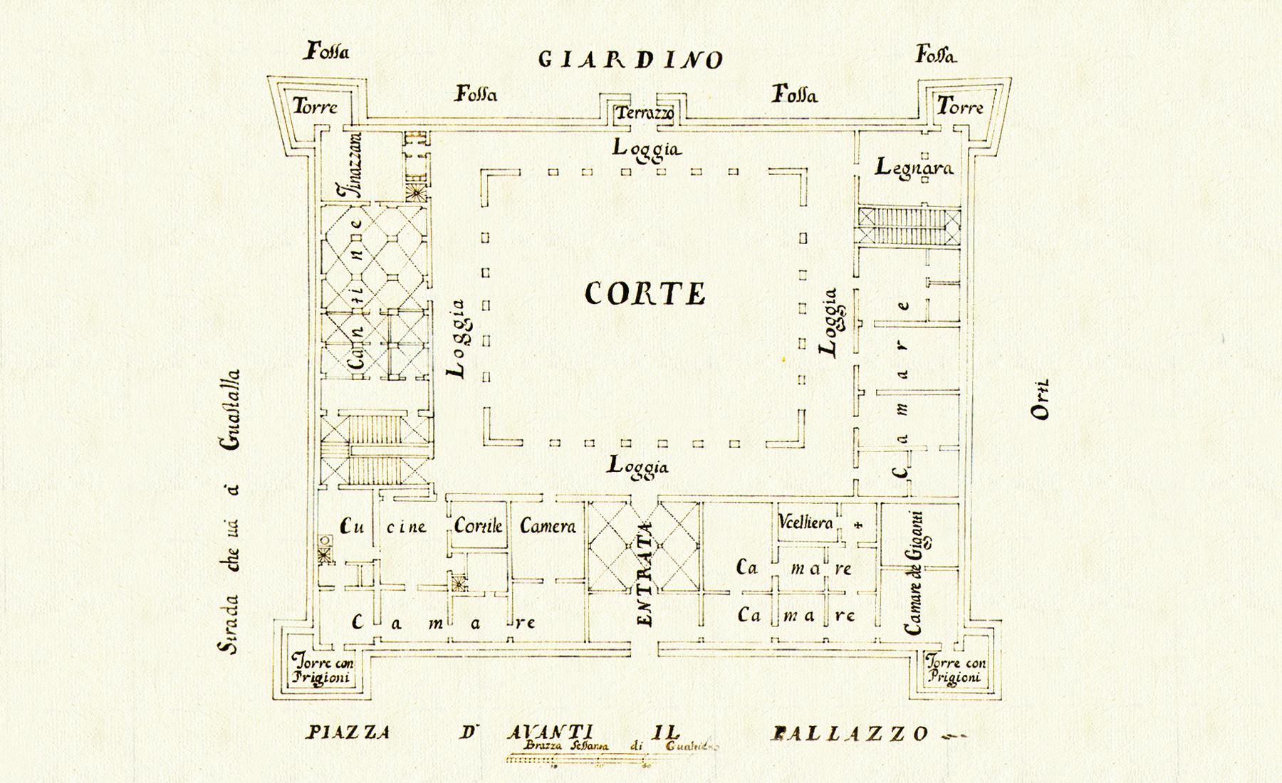 Teatro Sociale Gualtieri – Pianta Bondadini 1726 1800×1100